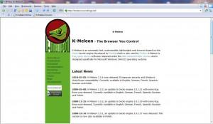 Internetový prohlížeč K-Meleon