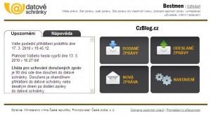 Datové schránky přihlášení, informace