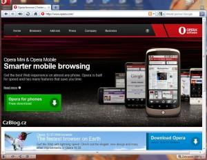 Internetový prohlížeč Opera download