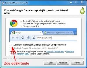 CCleaner vs. Google Chrome