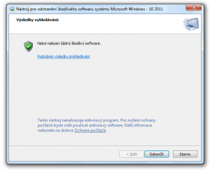 Nástroj pro odstranění škodlivého softwaru