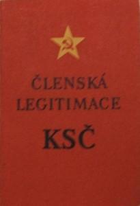 Členská legitimace KSČ