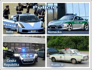 Policie v Česku, Německu, Itálii, Rusku