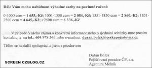 Nabídka České pojišťovny