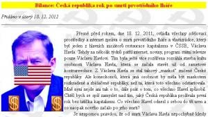 Komunisté opět hanobí památku prezidenta Václava Havla