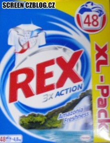 Prací prášek REX 3x Action