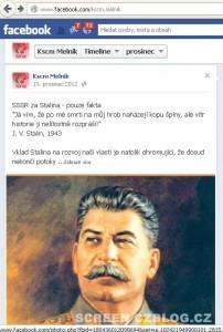 KSČM Stalin
