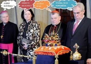 Opilý Miloš Zeman
