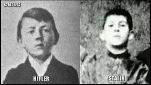 Hitler a Stalin v mládí