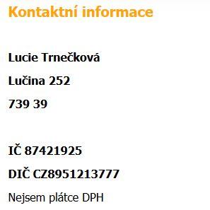 Kontaktní informace