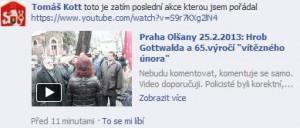 Kott pořádal akci na Olšanských hřbitovech