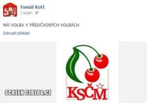 Kott je volič KSČM