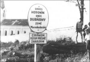 Cikánům vstup přísně zakázán