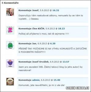 Komentáře na Czblogu