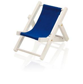 Stojan na mobil, který má tvar plážového křesla