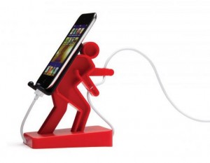 Stojánek na mobilní telefon nebo hudební přehrávač