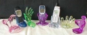 Blikající stojánky na mobily