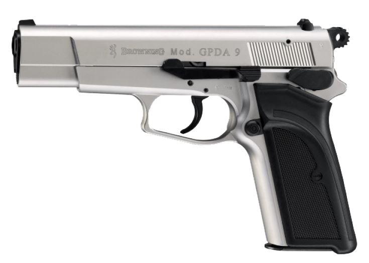 Plynová pistole Umarex Browning GPDA9 nikl cal. 9 mm
